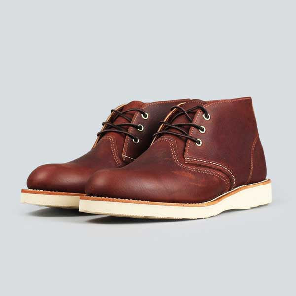 red wing heritage work chukka, briar oil slick - front on