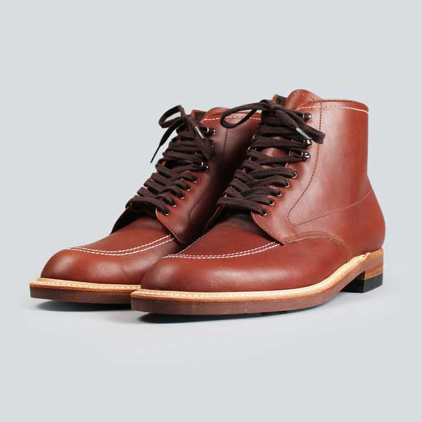 01818579198f ... alden indy boot - classic brown - front on ...