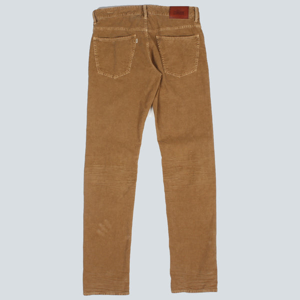 INCOTEX - 5 POCKET WAFFLE TROUSERS - BROWN