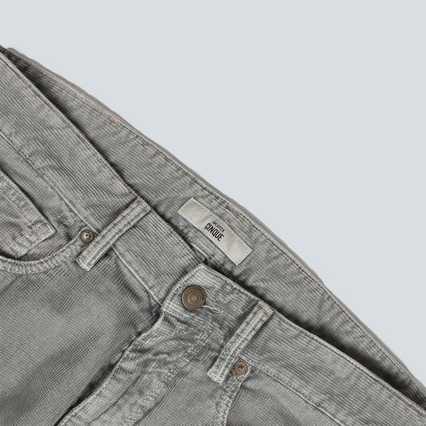 INCOTEX - 5 POCKET WAFFLE TROUSERS - GREY