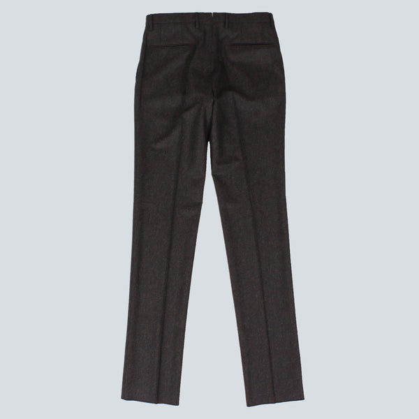 INCOTEX-MENS SINGLE PLEAT TROUSERS-CHARCOAL