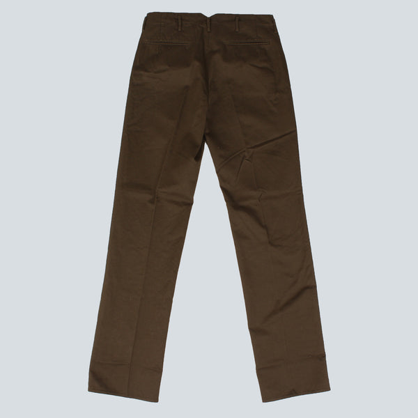INCOTEX-MENS TROUSERS-OLIVE GREEN
