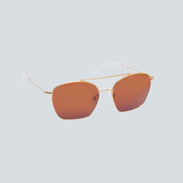 KAIBOSH - METALLICUM SUNGLASSES - GOLD BROWN