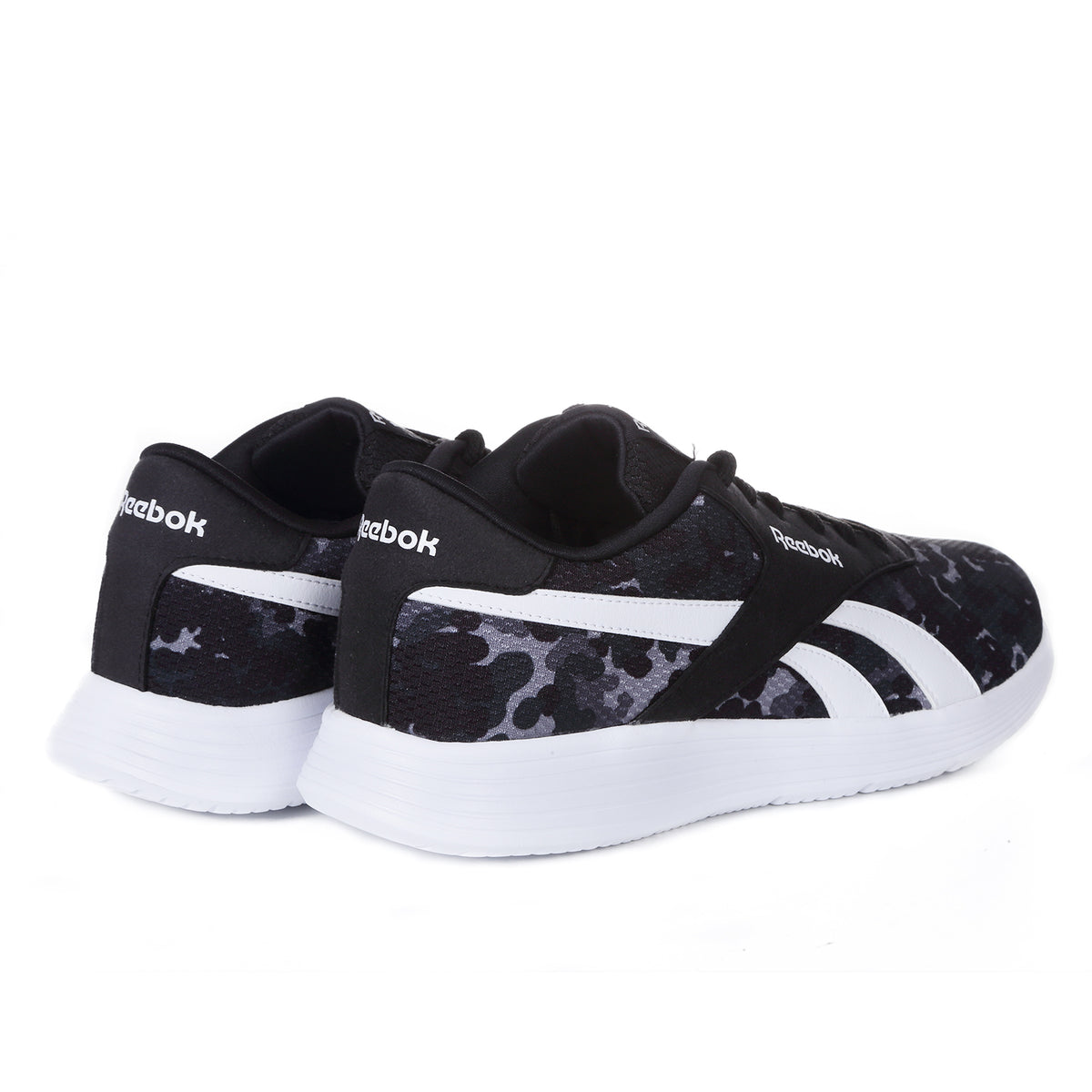 REEBOK - JUNIOR ROYAL EC RIDE CAMO - BLACK/WHITE