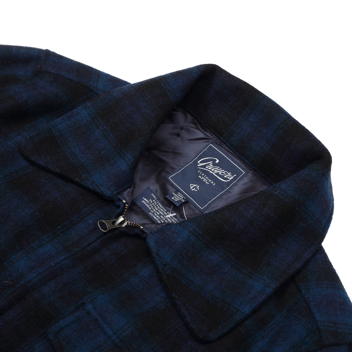 Grayers - Navy Plaid Jacket - Navy