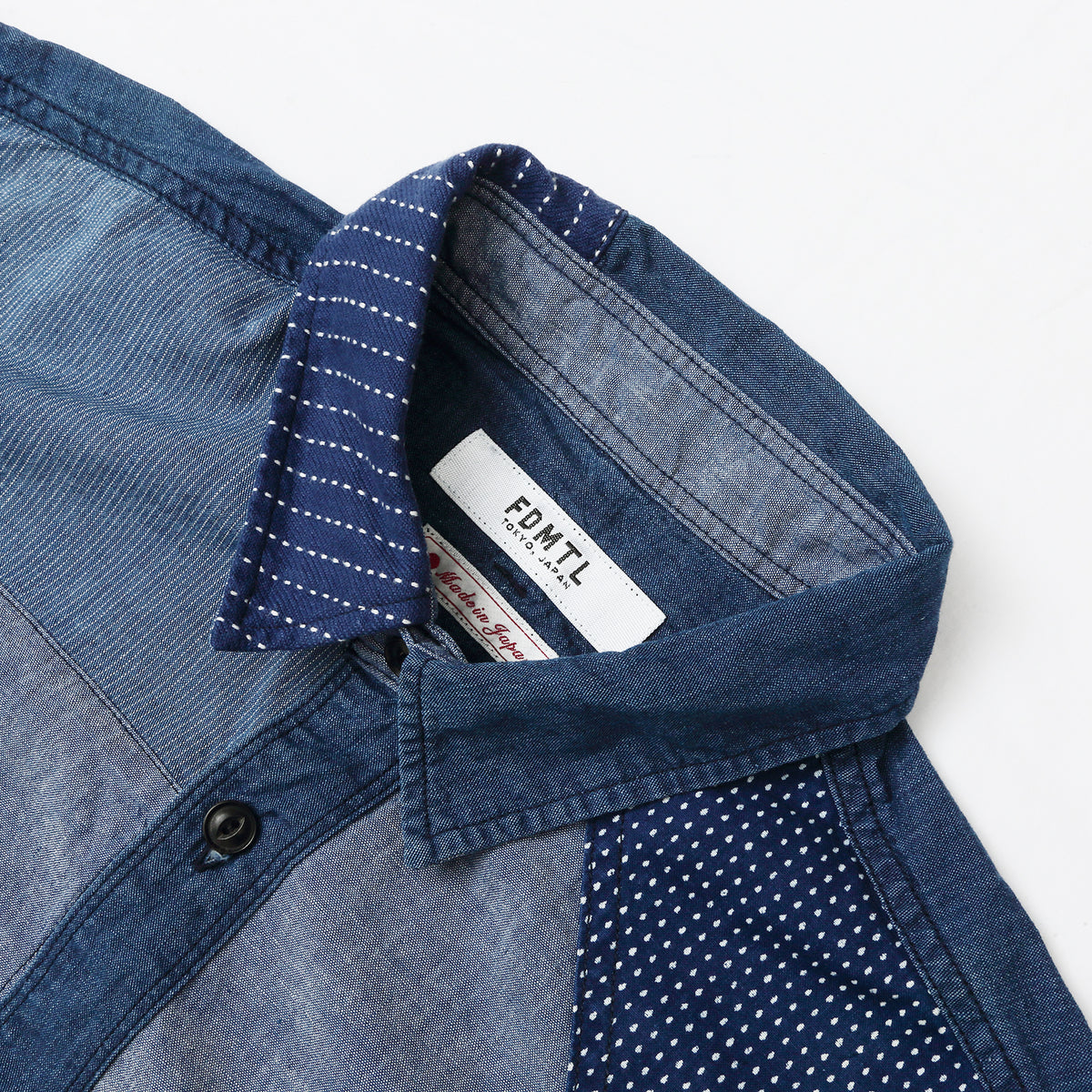 FDMTL - BORO INDIGO SHIRT - SOFT WASH