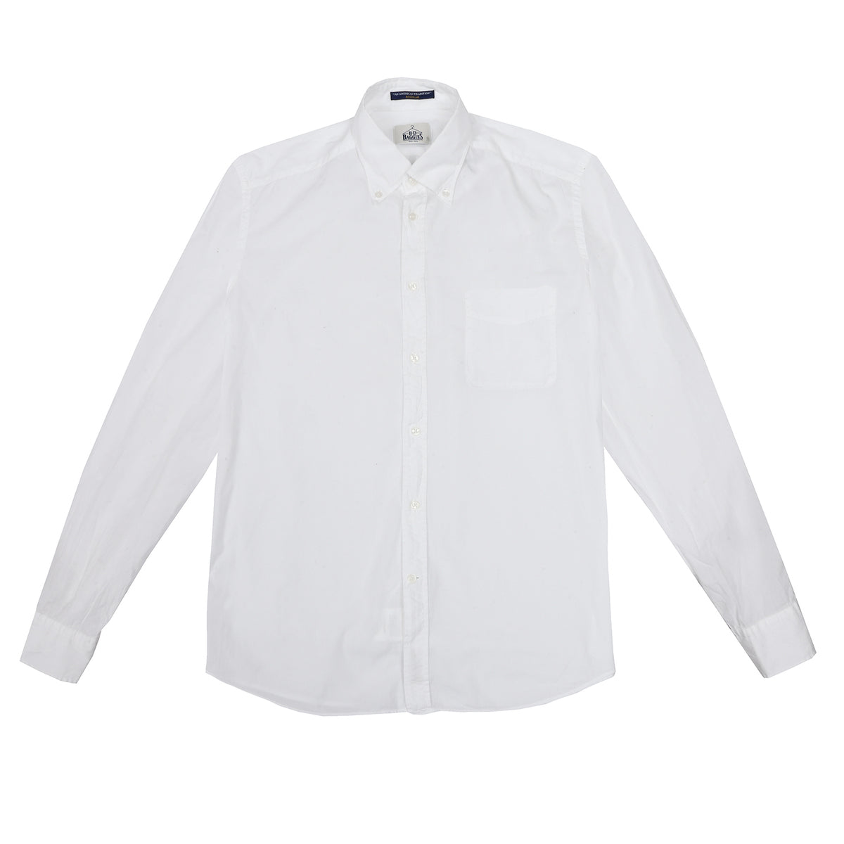 B.D. Baggies - Bradford Button Down - White (Lightweight)