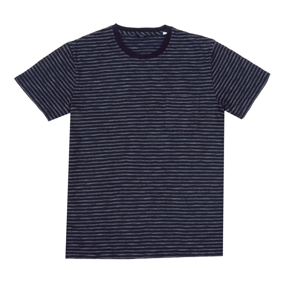 EDWIN - POCKET TEE - DARK INDIGO GARMENT WASHED