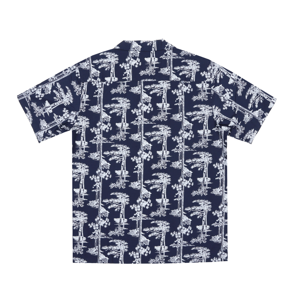 Carhartt - S/S Hawaii Shirt Pine Print - Blue/White