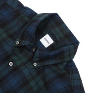 ASPESI - CHECK SHIRT - BLUE/GREEN