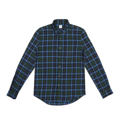 ASPESI - CHECK SHIRT - GREEN/BLUE