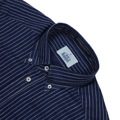 B.D. BAGGIES - BRADFORD BUTTON DOWN - NAVY / WHITE STRIPE