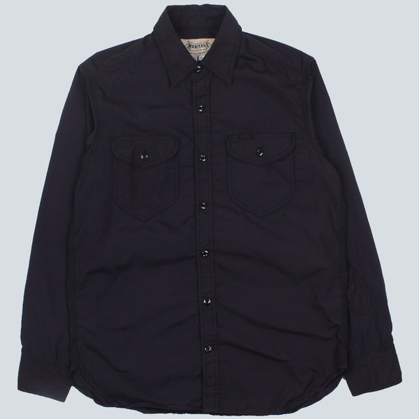 MONITALY-TRIPLE NEEDLE SHIRT-NAVY