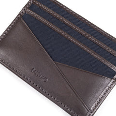 MISMO - M/S CARDHOLDER - NAVY/DARK BROWN