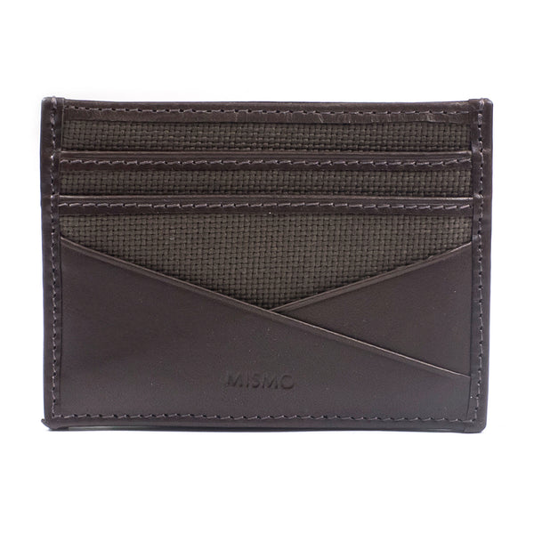 MISMO - M/S CARDHOLDER - ARMY/DARK BROWN