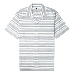 NN07 - S/S STRIPED SHIRT - GREEN STRIPE