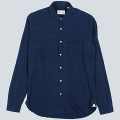 OLIVER SPENCER - ETON COLLAR KILDALE SHIRT - INDIGO