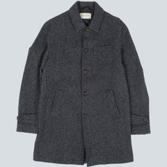 OLIVER SPENCER - GRANDPA'S BARROW COAT - CHARCOAL