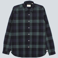 OLIVER SPENCER - NEW YORK SPECIAL BRUNEL SHIRT - GREEN
