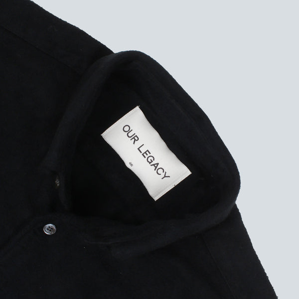 OUR LEGACY - 1950's PEELED FLANNEL SHIRT - BLACK