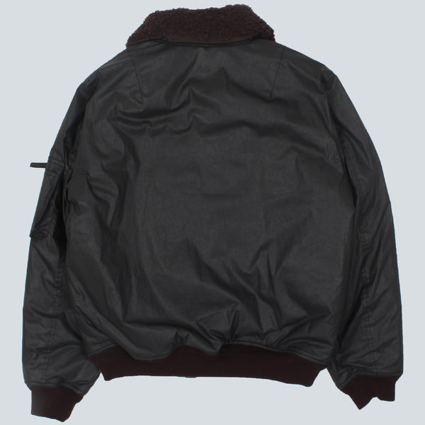 OUR LEGACY - FLIGHT JACKET - COATED BLACK