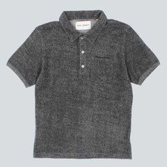 Our Legacy Pique Shirt - Black / White Terry