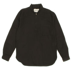 OUR LEGACY - SHAWL ZIP SHIRT - BLACK