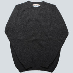 HARLEY OF SCOTLAND - LAMBSWOOL JUMPER - OXFORD GREY