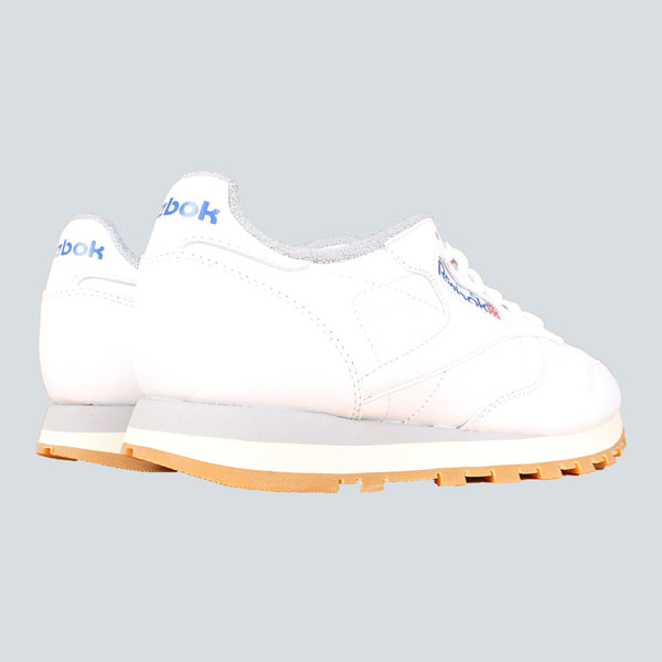 REEBOK CL LEATHER R12 - WHITE / NAVY / GREY