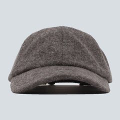 STUSSY - BOILED WOOL STOCK LOGO CAP - GREY