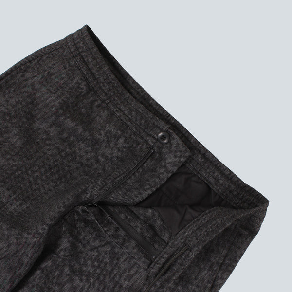 STUSSY-HERRINGBONE BEACH PANT-BLACK