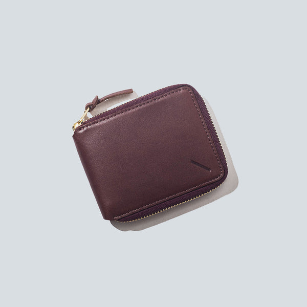 Saturdays NYC Scott Full Zip Wallet - Cordovan