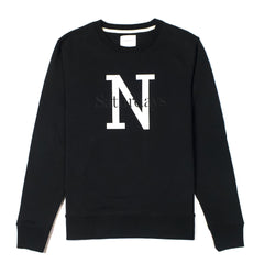 SATURDAYS NYC - BOWERY NY OVERLAY SWEATER - BLACK