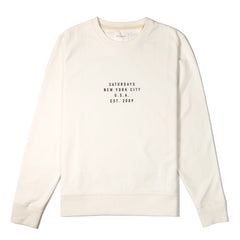 SATURDAYS NYC - BOWERY ESTABLISHED USA SWEATER - IVORY