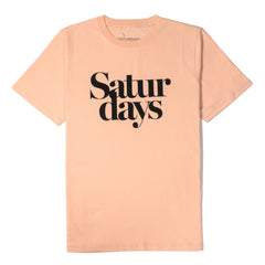 SATURDAYS NYC - MILLER BLACK TEE - CLAY