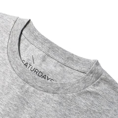 SATURDAYS NYC - BAR S/S TEE - ASH HEATHER