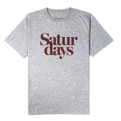 SATURDAYS NYC - MILLER BLACK TEE - ASH HEATHER