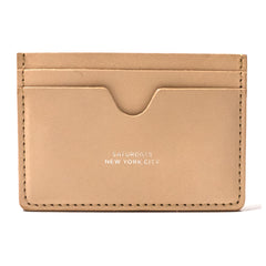 SATURDAYS NYC - RYAN CARD HOLDER - RAW VEGETABLE TAN
