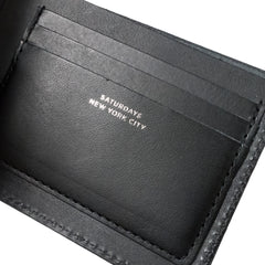 SATURDAYS NYC - BI-FOLD WALLET - BLACK