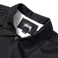 STUSSY - SPRING COACH JACKET - BLACK