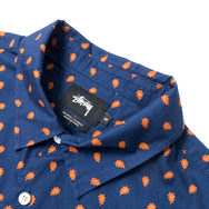 STUSSY - MINI PAISLEY SHIRT - NAVY