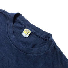 VELVA SHEEN - ROLL T-SHIRT - NAVY
