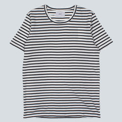 WAX - DUVAL T-SHIRT - WHITE / NAVY STRIPE
