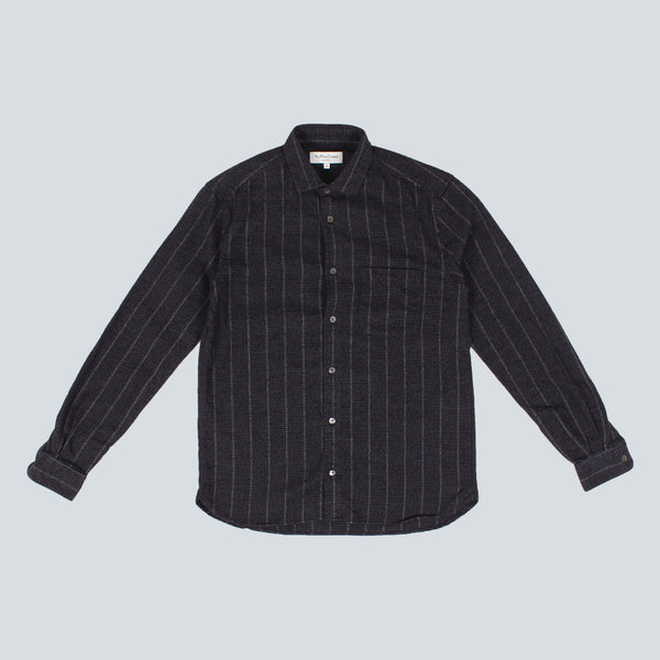 YMC - CURTIS SHIRT - NAVY FLANNEL
