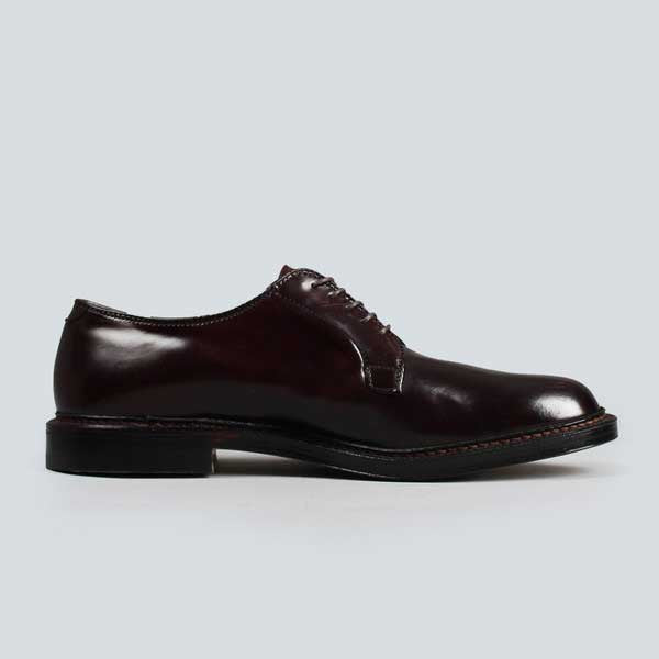 alden plain toe blucher - dark burgundy cordovan, inner side view