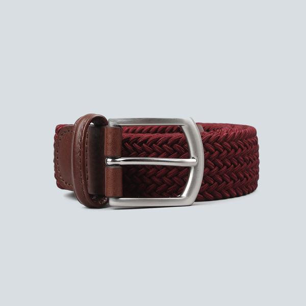 Anderson's - Woven Textile Belt - Wine