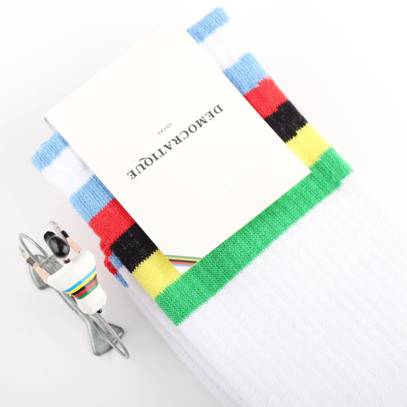 Democratique - Athletique Classique Stripe Socks - Multi