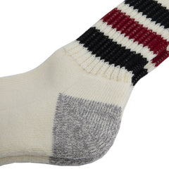 Rototo - Coarse Ribbed Old School Socks - Black/Red
