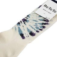 Rototo - Tie Dye Pattern Socks - Purple/Blue