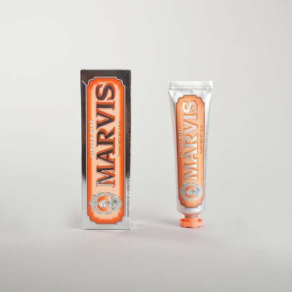 ginger mint marvis toothpaste - bottle and box
